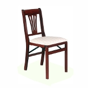 2 Stakmore Urn Back Folding Chairs