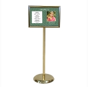 Digital Directory on Brass Stand